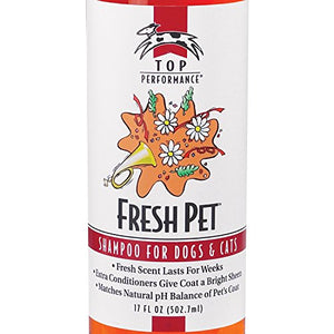 Top Performance Fresh Pet Shampoo Prevents Mats and Tangles
