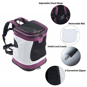 Soft Sided Cat Dog Carrier Backpack