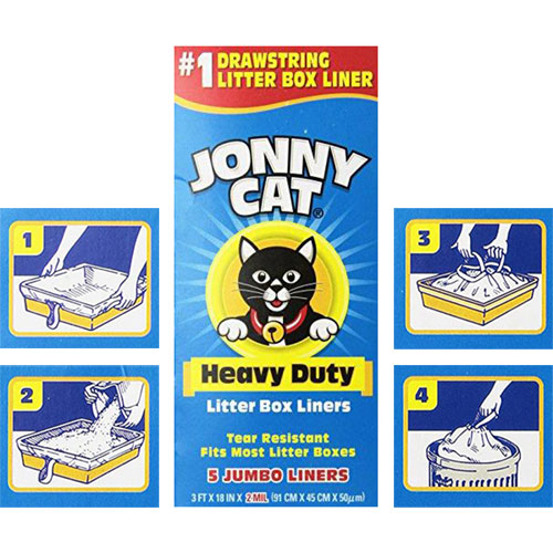 Heavy Duty Litter Box Liners by Jonny Cat, Thick Plastic  Edit alt text