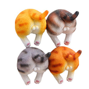 Cute 3D Funny Cat Butt Refrigerator Magnets, 1.6*1.3inch
