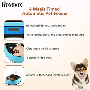 Programmable 4 Meals Pet Feeder
