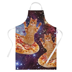 Flying Cats on Pizza in Space Apron