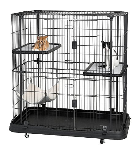 Prevue Pet Products Deluxe Cat Home with 3 Levels