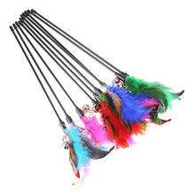 Interactive Feather Stick Bell Cat Toy