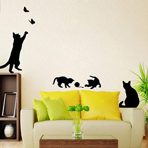 Black Cat Stickers for Walls, PVC