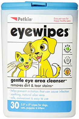 Petkin Eyewipes, 30-Count (Pack of 6)