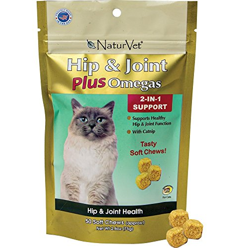 Hip and Joint Plus Omegas by NaturVet, 2 in 1 Support, 2.6 oz