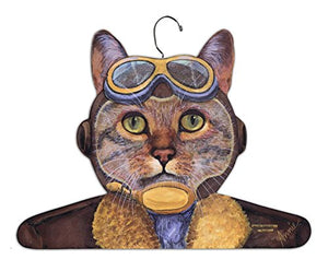 Pilot Cat Hanger With Aviator Glasses And Jacket by Stupell