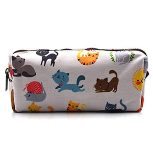 Pencil Case with Laughable Cats Print