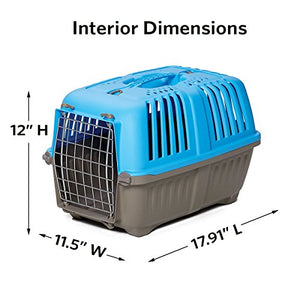 Pet Travel Carrier, 19-Inch, Blue