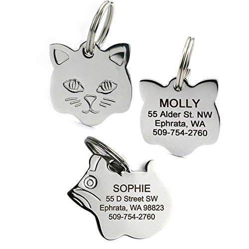 Personalized Stainless Steel Cat ID Tags