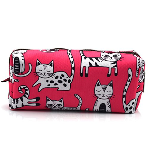 Cat Pencil Case Makeup Bag, 8 inches long