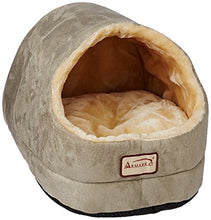 Faux Suede and Faux Fur Green Cat Bed