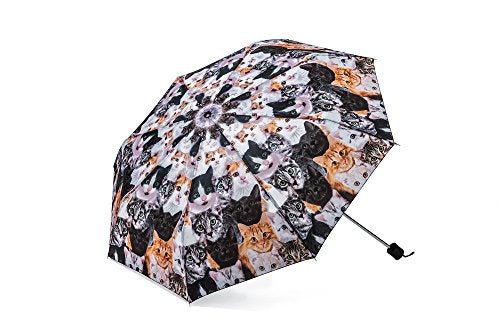 Umbrella with Realistic Images of Cats Print, 7 ounces