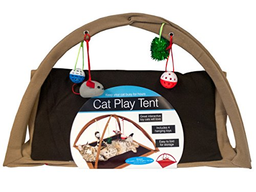 Cat Play Tent With Dangle Toys