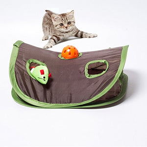 Collapsible Puzzle Cat Toy with Bell