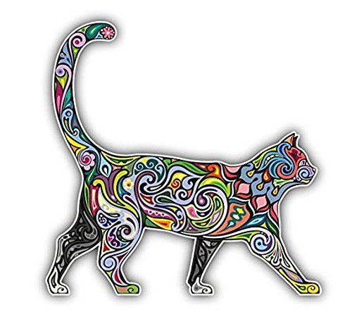 Colorful Cat Laptop Stickers, 5 inches