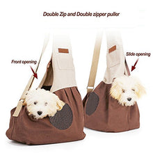 100% Cotton Comfortable Travel Tote Sling Bag For Cats