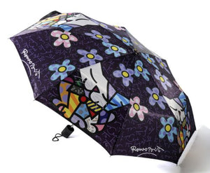 Cat with Flowers Umbrella by Romero Britto, 13 ounces