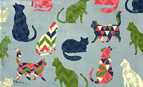 Cat Chevron Pattern Floormat, Made From 90% Post-consumer Material
