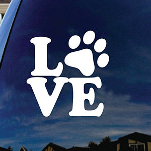 Love Paw Cat Car Die-cut vinyl decal