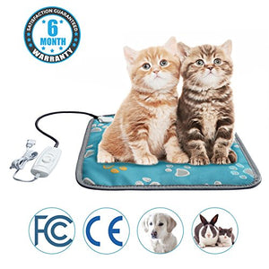 Paw Print Pattern Heating Pad for Cats