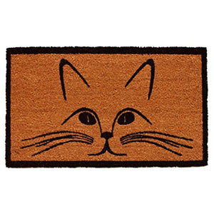 Home & More Purrfection Cat Doormat, 100% Natural Coir