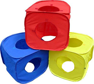 Rainbow Collapsible Cubes Cat Play Tunnel