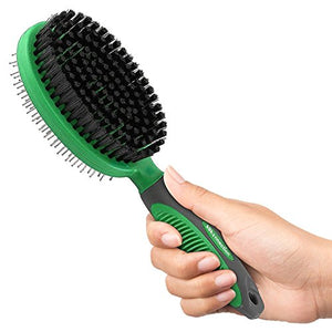 2 in 1 Bristle and Pin Grooming Brush, Removes Loose and Tangles Quickly