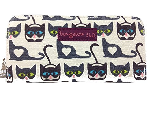 Zip Around Wallet (Cats with Blue and Green Eyes)