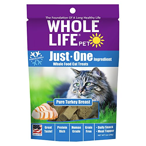 100% Pure Human Grade Freeze Dried Turkey Breast Treats by Whole Life Pet