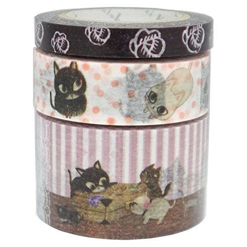 Cat Pattern Design Masking Tape, 7mm x 10M