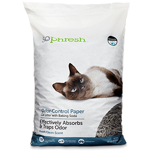 Odor Control Paper Pellet Cat Litter by So Phresh, Baking Soda & Zeolite