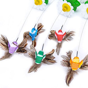 Butterfly Hummingbird Design Toy for Cat