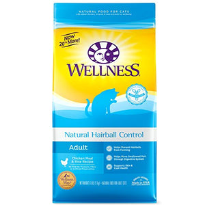 Wellness Natural Hairball Control Chicken Recipe for Adult Cats