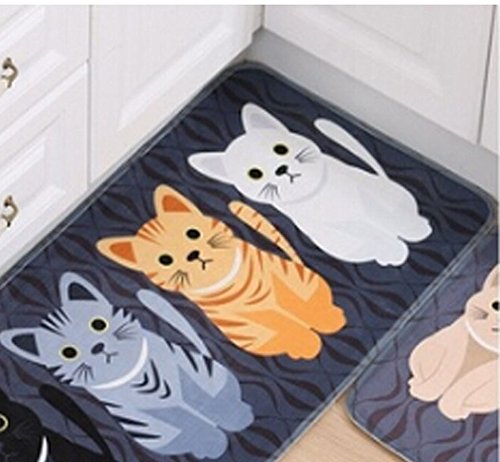 Cute Three Cats Print Indoor Doormat