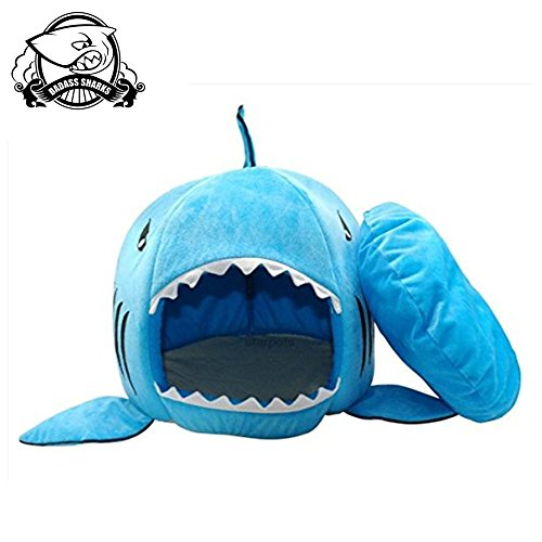 Warm Shark Shape Sleeping Bed for Cats