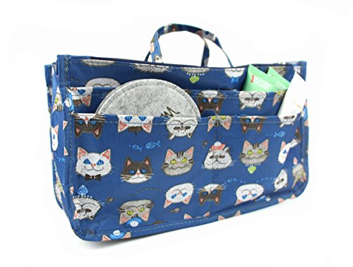 Cute Cat Printing Expandable 13 Pocket Handbag by MICOM, 11.4 x 6.3 x 3.5 in