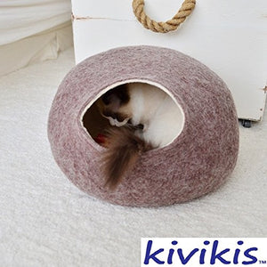 Sand Brown Handmade Cat Cave Bed