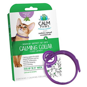 Calming Cat Collar, Contains Natural Essential Oils