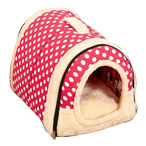 Strawberry-Colored Pet Bed