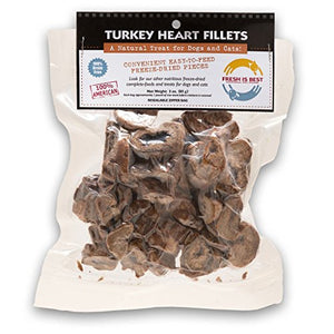 Fresh Is Best Freeze-Dried Raw Turkey Heart Fillets Treats for Cats