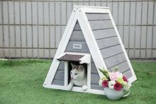 Triangle Wooden Cat House