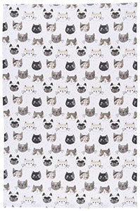 Cats Heads Print, Kitchen Towel