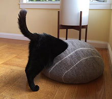 Merino Wool Felted Cat Cave