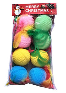 Golf Sponge Cat Balls with Bright Colors