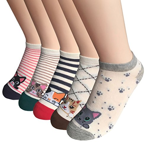 5 Pack Short Ankle Socks by FAYBOX (Cat 5 pairs)