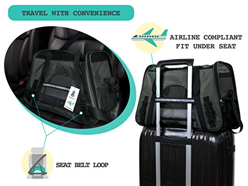 b2627d90d53 ... Premium Airline Approved Soft-Sided Pet Travel Carrier by PetAmi |  Ventilated, Comfortable Design ...