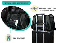 Travel Carrier with Safety Buckle Zippers