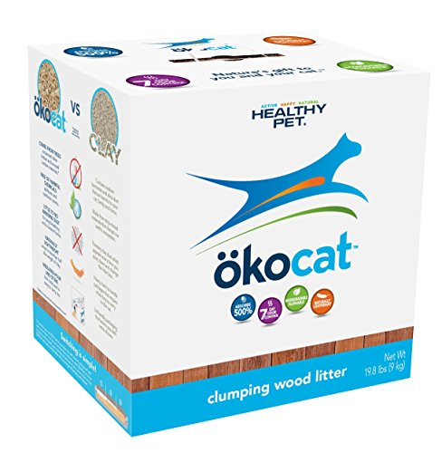 ökocat Clumping Wood Cat Litter by Healthy Pet, 7 Day Odor Control